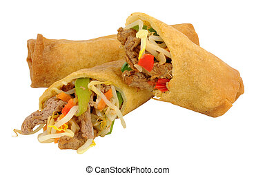 Beef Filled Chinese Rolls