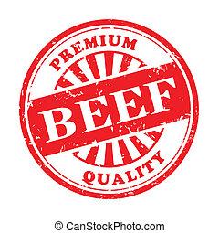 beef grunge rubber stamp