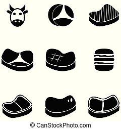 beef icon set