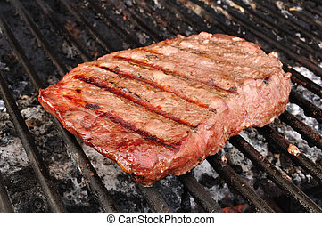 Beef Loin Top Sirloin Steak on the Grill - Beef Loin Top ...