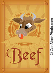 Beef meat poster