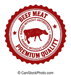 Beef meat stamp