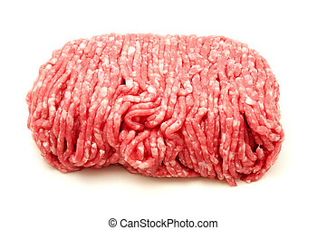 Beef mince - Raw beef mince on a white background