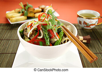 Beef Noodle Stirfry - Freshly prepared beef noodle stirfry...