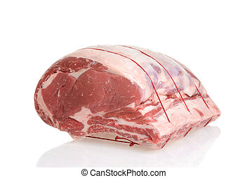 beef prime rib roast - closeup of beef prime rib roast