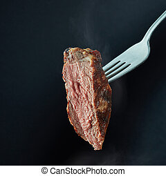 Beef steak medium grilled