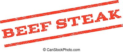 Beef Steak Watermark Stamp