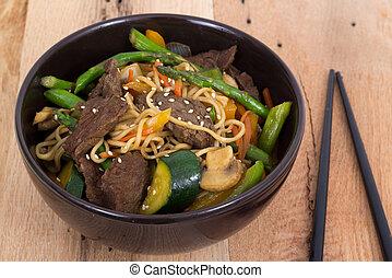 Beef stir fry bowl