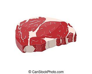 Beef tenderloin. Slice of steak, fresh meat. Uncooked pork ...
