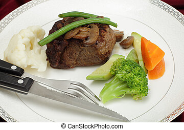 beef tournedos tenderloin steak