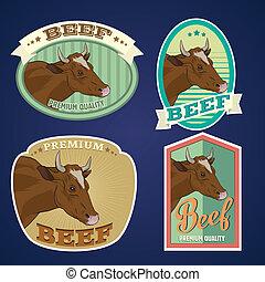 Beef vintage labels