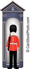 beefeater, żołnierz, -, londyn, ikona