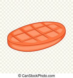 Beefsteak icon, cartoon style - Beefsteak icon. Cartoon ...