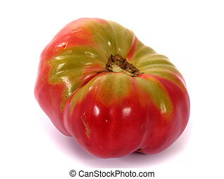 Beefsteak tomato, isolated on white background