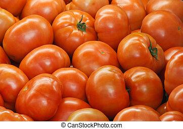 Beefsteak Tomatoes - Full shot of whole ripe Beefsteak...