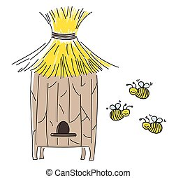 Beehive - A vector illustration of beehive