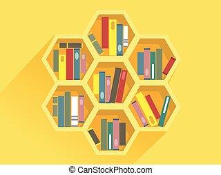 Beehive Book Shelf Illustration - Illustration of a Beehive ...