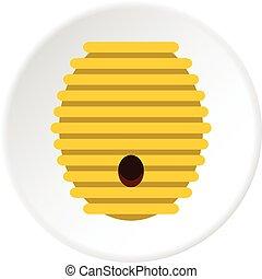Beehive icon circle