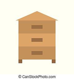 Beehive icon, flat design