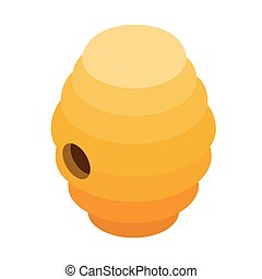 Beehive isometric 3d icon