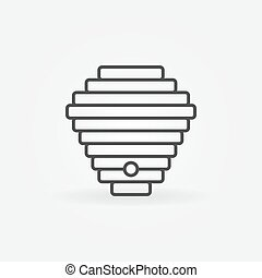 Beehive linear icon