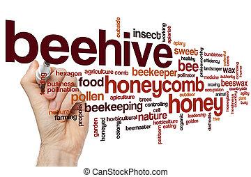 Beehive word cloud