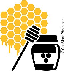 Beekeeper honeycomb and honeypot
