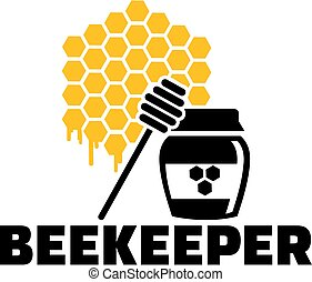Beekeeper honeycomb and honeypot job title