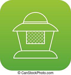 Beekeeper icon green vector