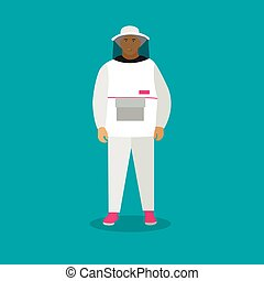 Vector Flat Man In Psychiatric Hospital Uniform Vector Flat Man In