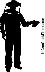 Beekeeper silhouette