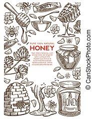 Beekeeping farm natural honey production apiary and...