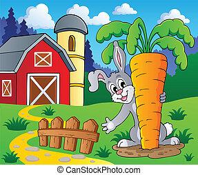 beeld, 2, thema, konijn