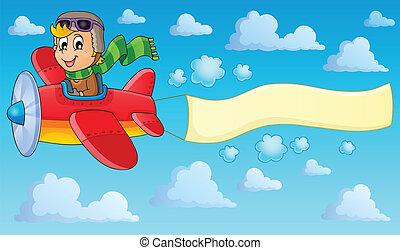 beeld, 2, thema, vliegtuig