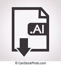 beeld, bestand, type, formaat, ai, pictogram