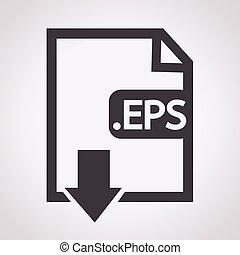 beeld, bestand, type, formaat, eps, pictogram