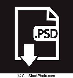 beeld, bestand, type, formaat, psd, pictogram