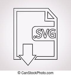 beeld, bestand, type, formaat, svg, pictogram