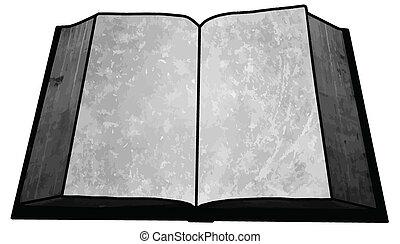 beeld, boek, black , leeg, witte , lege