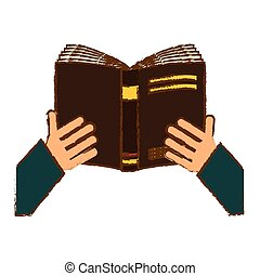 beeld, boek, lezende , pictogram
