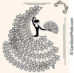 beeld, flamenco, ventilator