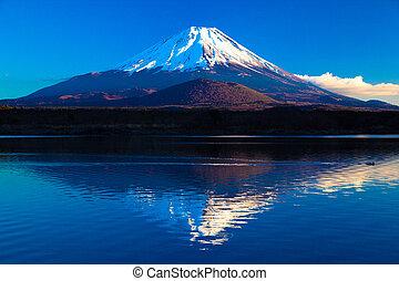 beeld, inverted, mt.fuji