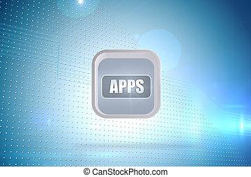 beeld, spandoek, abstract, apps, composiet, scherm