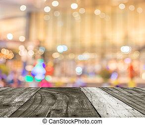 beeld, van, groot, kleinhandelswinkel, vaag, achtergrond.
