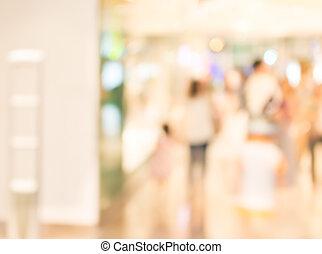 beeld, van, kleinhandelswinkel, vaag, achtergrond.