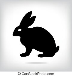 beeld, vector, konijn