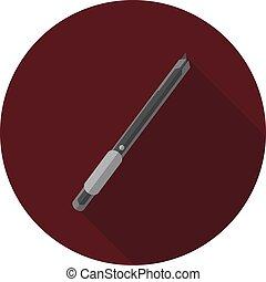 beeld, vector, mes, schrijvende
