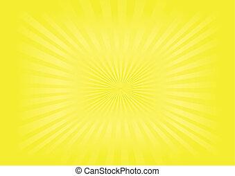 beeld, vector, -, zonnestraal