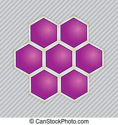 beelden, abstract, moleculair, bouwwerken