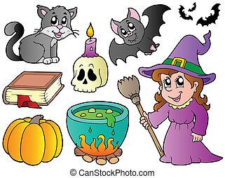 beelden, halloween, verzameling
